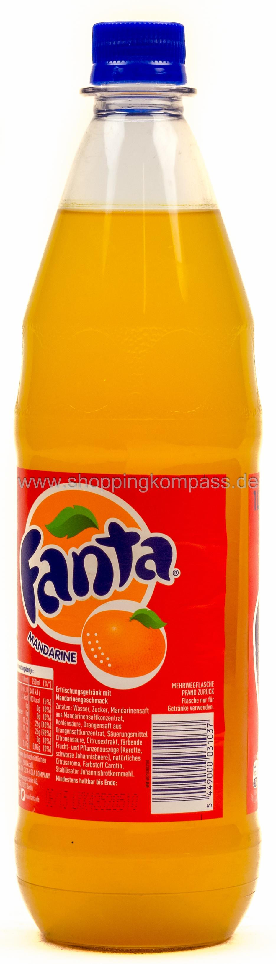 limonade fanta mandarine 1 l pet mehrweg ihr. Black Bedroom Furniture Sets. Home Design Ideas