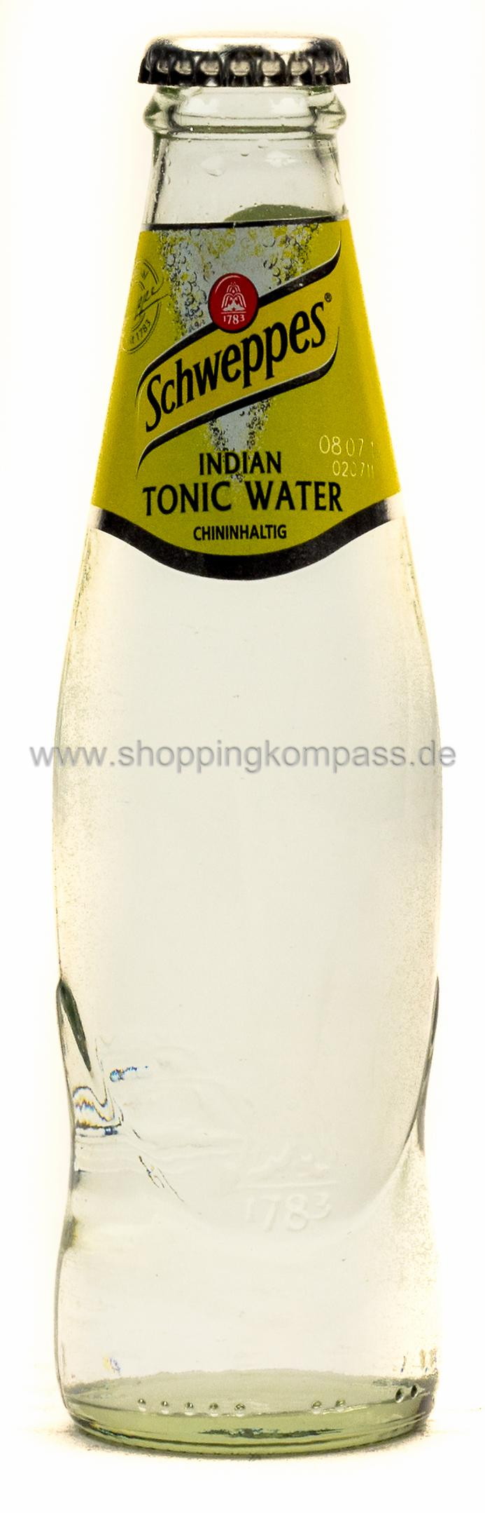 Schweppes Indian Tonic Water 0,2 l Glas Mehrweg