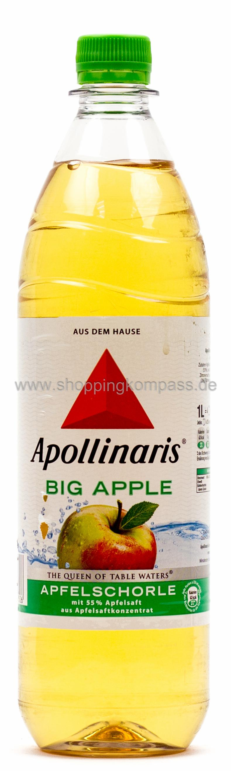 Apollinaris Apfelschorle Big Apple 1 l PET Mehrweg