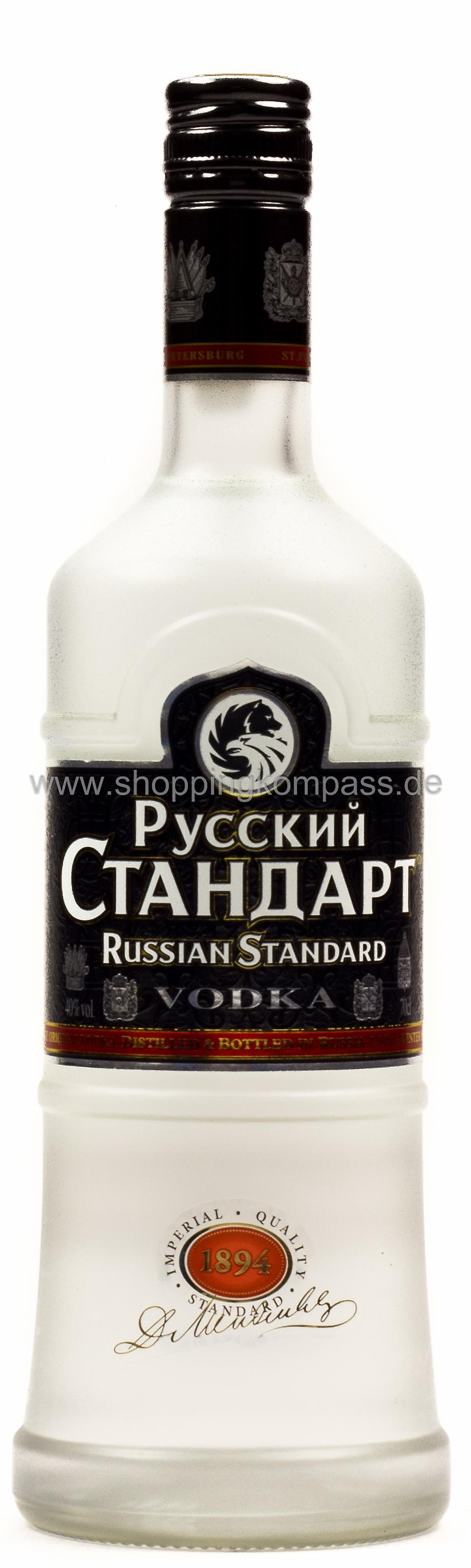 Russian Standard Vodka 0,7 l Glas