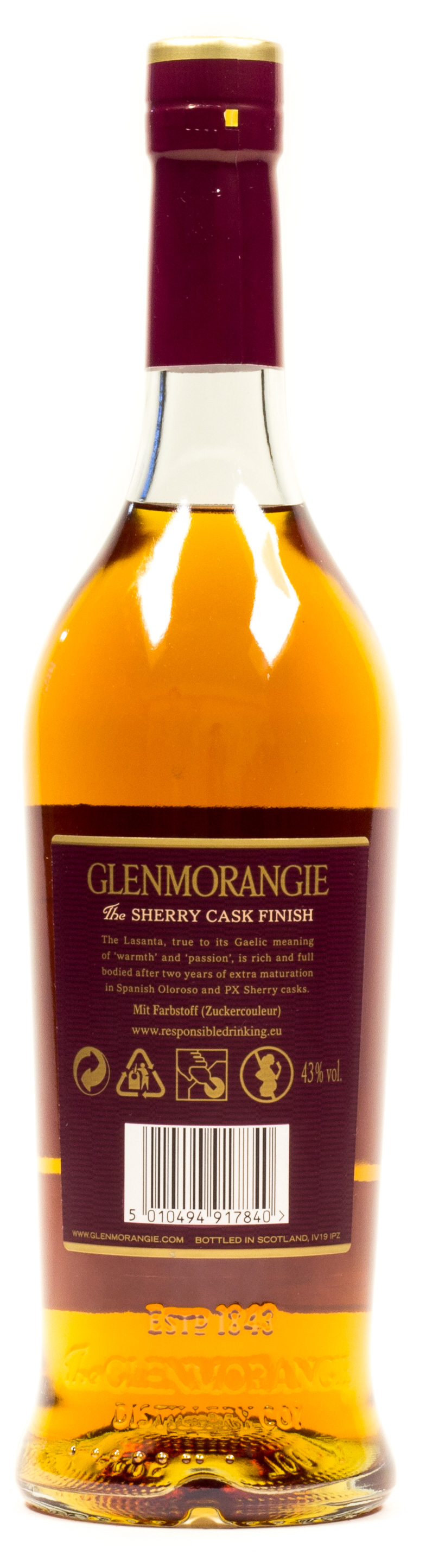 Glenmorangie Highland Single Malt Scotch Whisky 12 years 0,7 l