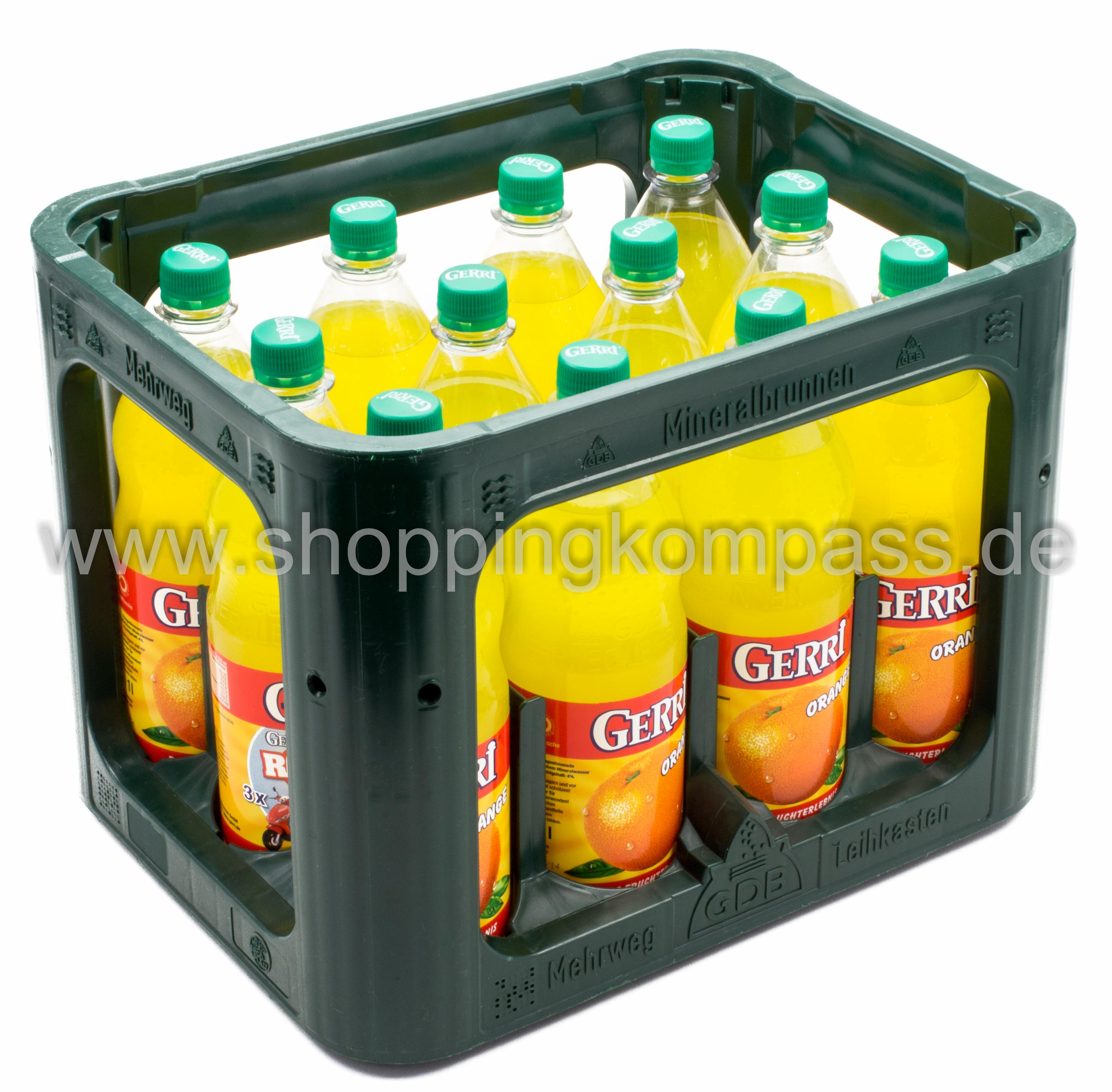 Gerri Orange Kasten 12 x 1 l PET Mehrweg
