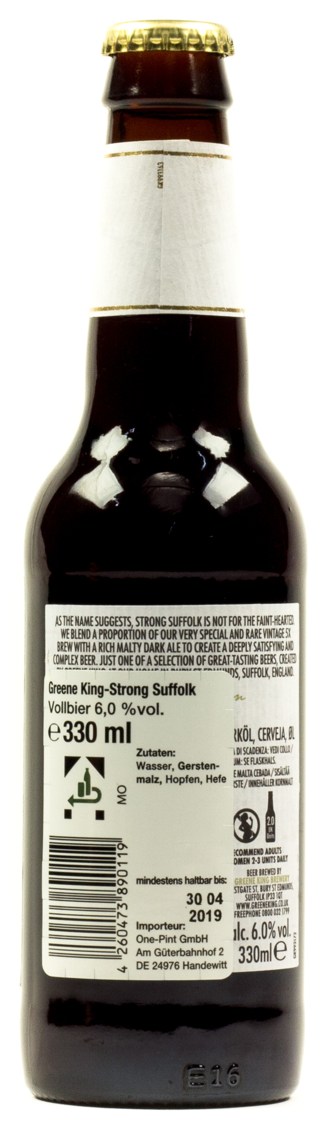 Strong Suffolk Dark Ale 0,33 l Glas Mehrweg