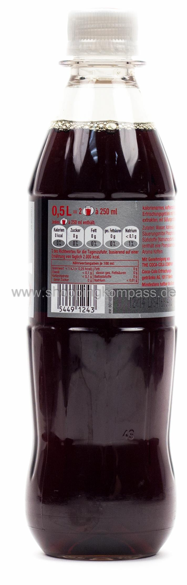Coca Cola Light 0,5 l PET Mehrweg