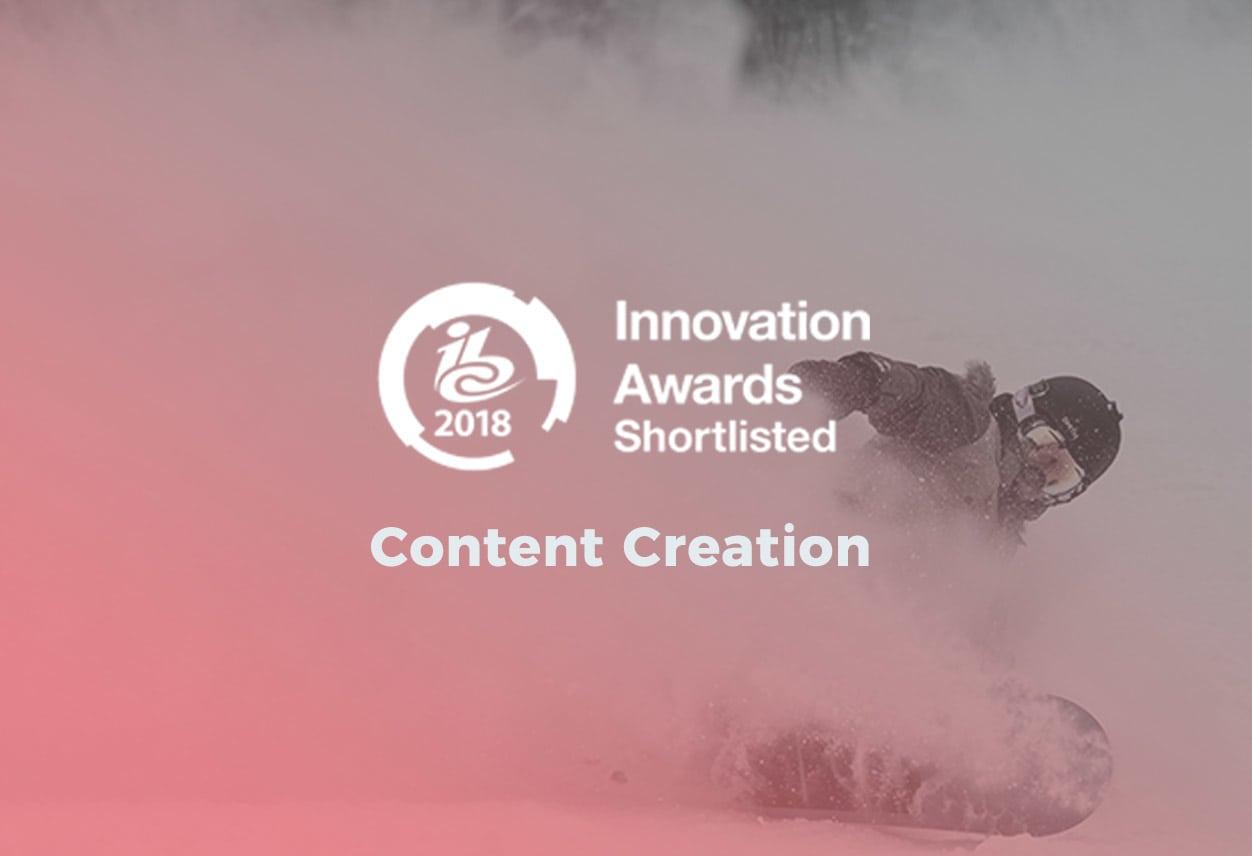 Cube shortlisted IBC Award
