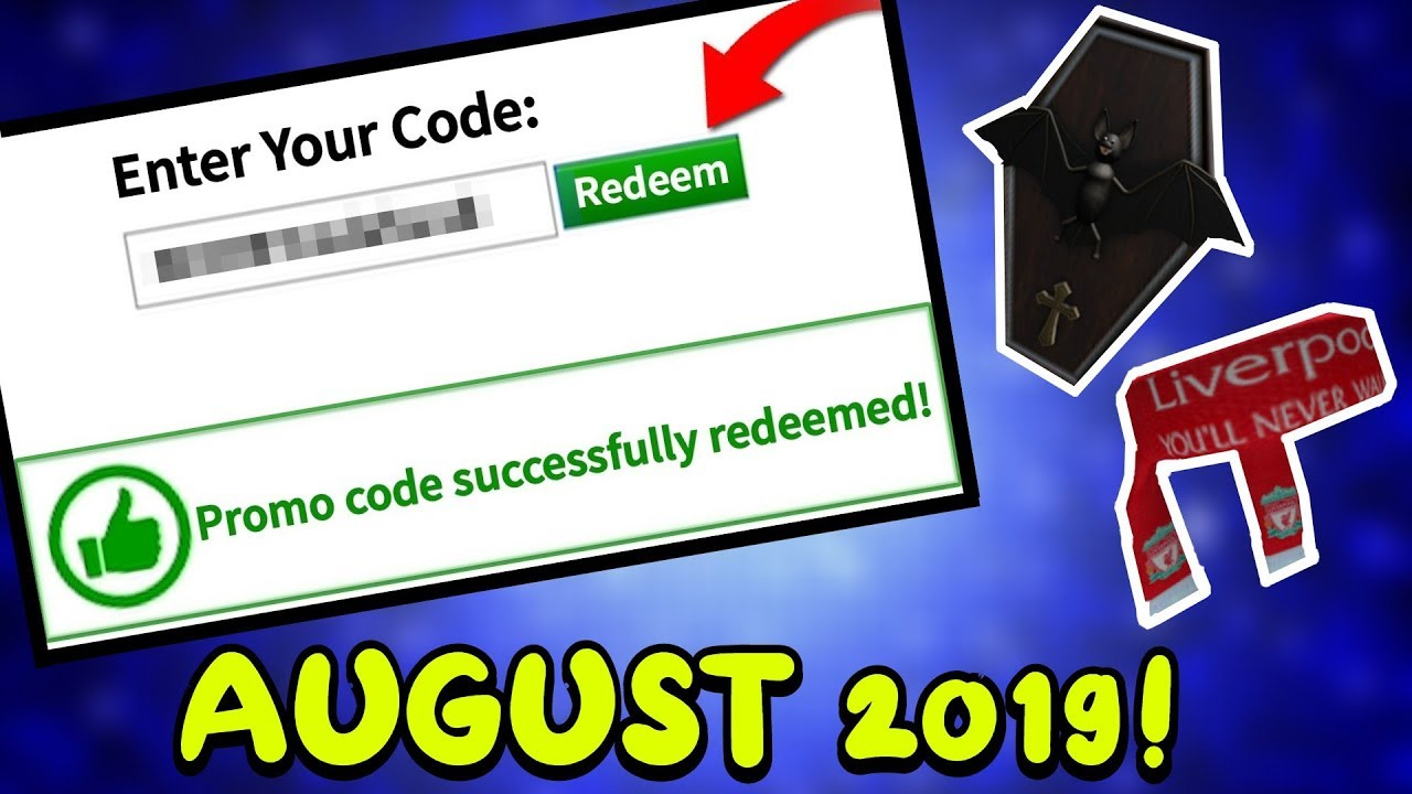 ALL NEW ROBLOX PROMO CODES (AUGUST 2019) *NOT EXPIRED*