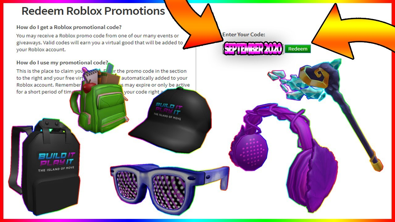 *AUGUST-SEPTEMBER 2020* ALL 6 NEW ROBLOX PROMO CODES (ROBLOX) *SECRET CODES*