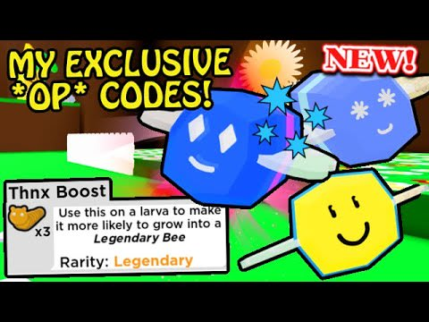 *NEW* My EXCLUSIVE & OP CODES - FREE Legendary Bees! | Roblox Beekeepers