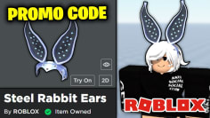 FREE HAT! PROMO CODE FOR THE STEEL RABBIT EARS (Roblox)