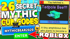 ALL 26 SECRET MYTHIC CUB BEE CODES IN BEE SWARM