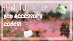 How to Get Accessory Codes | ROBLOX
