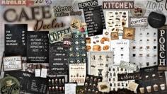Decals Codes Cafe / Coffee Shop & Menu | Decals