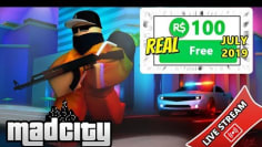 FREE ROBUX GIVEAWAY!! MAD CITY 2019 FREE ROBUX IN ROBLOX