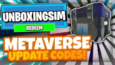 ALL NEW *METAVERSE* UPDATE CODES! | Roblox Unboxing simulator
