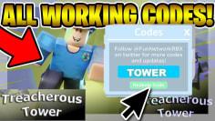 NEW TREACHEROUS TOWER CODES! (May 2020) | ROBLOX Codes *SECRET/WORKING*