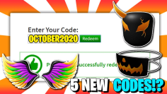 *6 Code!?* ALL NEW PROMO CODES in ROBLOX !?! (October