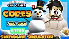 FREE WINTER PROMO CODES – Snowman Simulator Roblox FREE GOLD