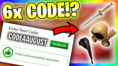 *6 Code!?* ALL NEW PROMO CODES in ROBLOX !!? (August