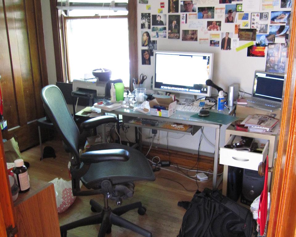My first proper home office, summer 2006
