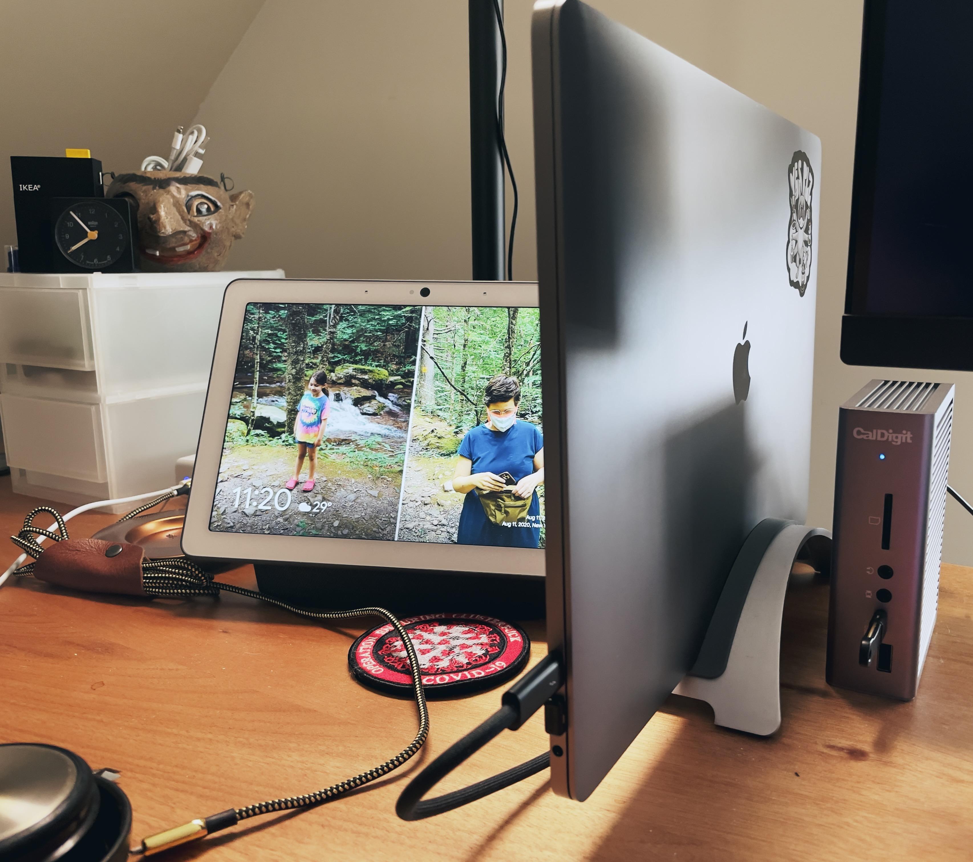 My MacBook Pro docked on my desk
