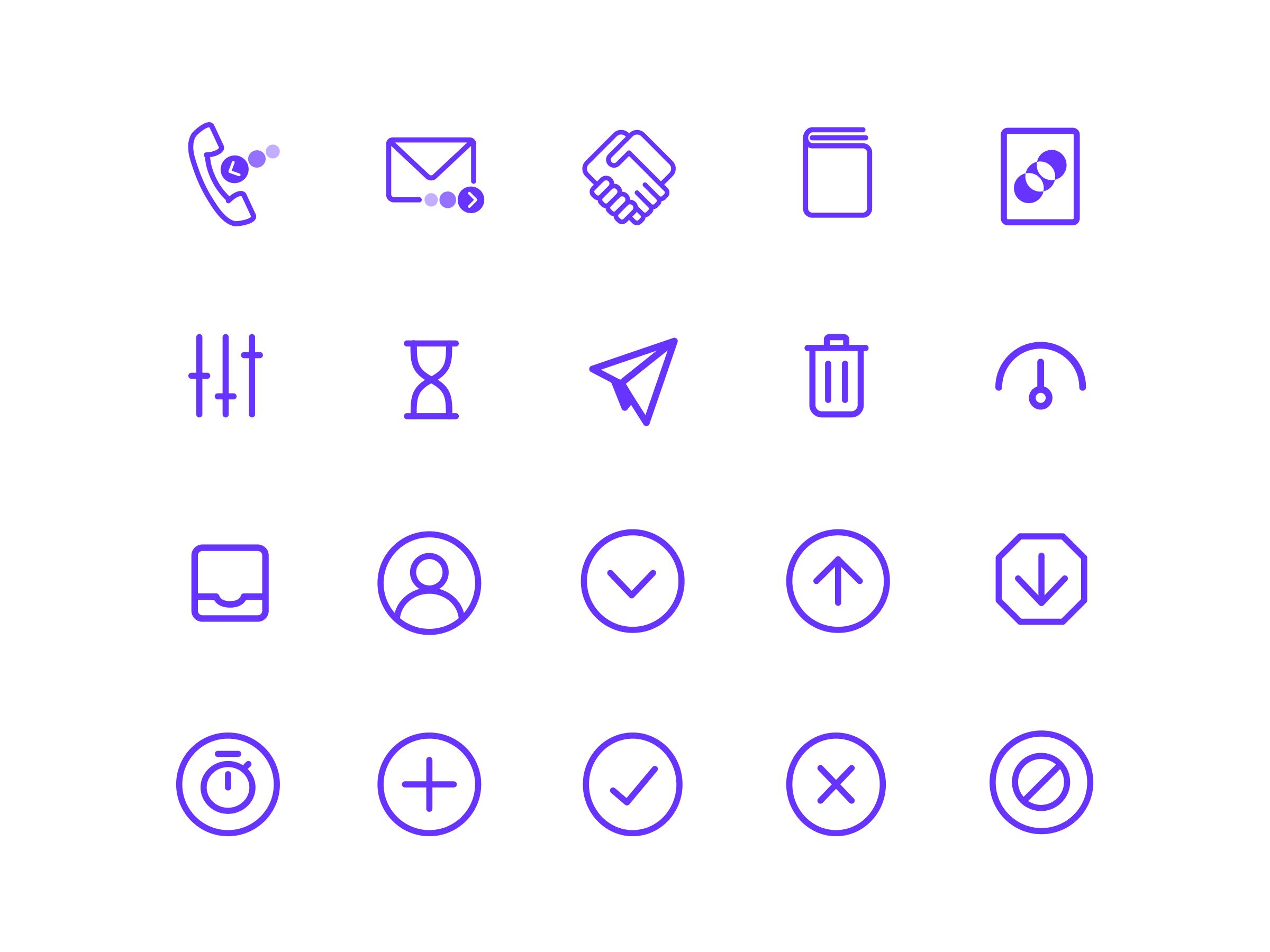 Mitimes icon set