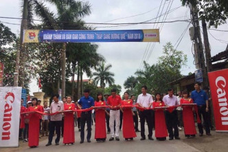 "Handover ceremony of ""lighting up the countryside"" project 2018 in Bac Giang"
