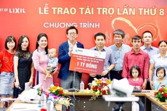 Lixil Việt Nam continues donating for children's heart surgeries