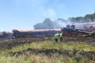 18 dead, 254 injured as South Africa train slams into truck