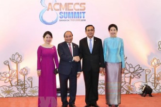 Vietnamese PM meets Thai counterpart on sidelines of ACMECS 8
