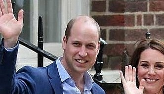 Britain's Prince William and Kate return home with newborn son