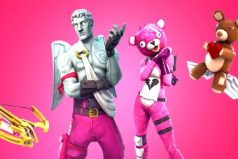 Celebrate Valentine's Day with creepy bear costumes and crossbows in Fortnite Battle Royale, courtesy of its latest seasonal event