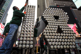 CBS News Logo   New Year's Eve revelers flock to see Times Square ball drop
