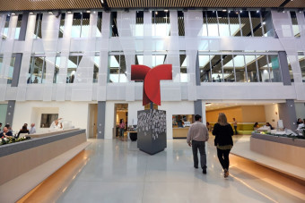 Telemundo's new headquarters embraces the future. It may transform this area, too