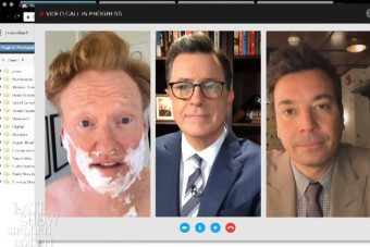 Late-night hosts Stephen Colbert, Jimmy Fallon and Conan O'Brien team up to take on Trump