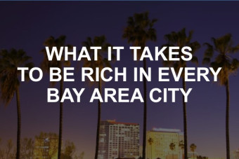 What does it take to be rich in the Bay Area? Here's how much you need to make in every city.
