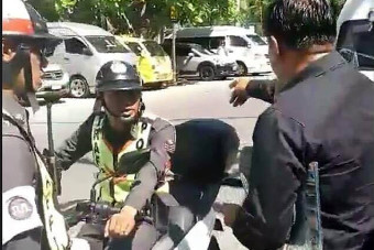 Taxi driver versus Police in Patong