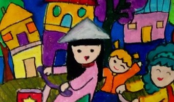 Primary students draw their Green Dreams