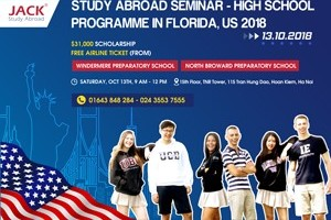 US$31,000 SCHOOLARSHIP, FREE AIRLINE TICKET FOR HIGH SCHOOL PROGRAMME IN THE US 2018