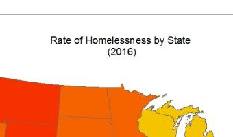 Rate of Homelessness by State 2016