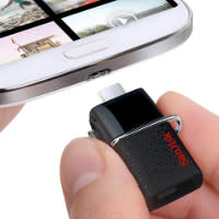 SanDisk flash drive uses your Android phone or tablet's micro-USB port to transfer files