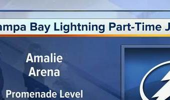 Tampa Bay Lightning hosting part-time job fair for playoff games and other Amalie Arena events