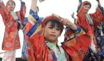 Fit for a princess: Vietnamese dance troupe dons royal clothing for Japanese street dance