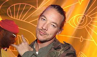 Kendall Jenner, 22, and DJ Diplo, 39, are seen acting 'super-flirty' at Coachella music festival