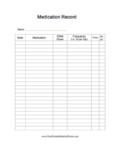 It is an image of Free Printable Medication Log in sample