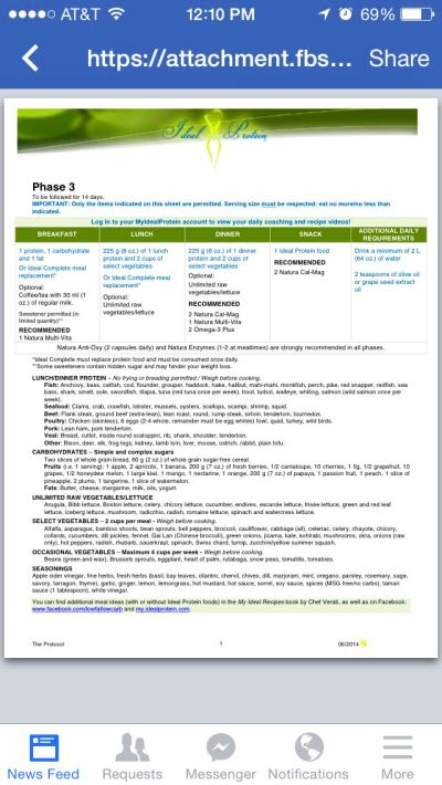 Phase 3 Sheet Ideal Protein Protein Weight Loss Diet Ideal protein phase 3 worksheet