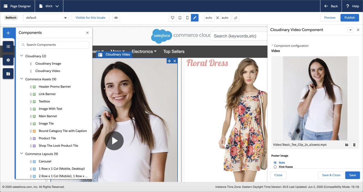 Overview of the Page Designer and Cloudinary components
