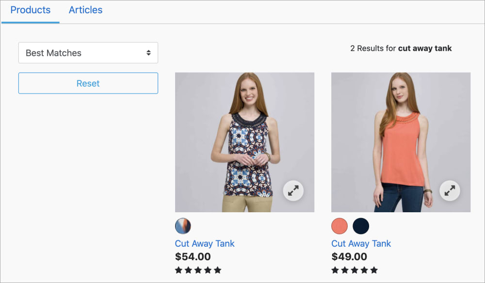 Main product image on product listing page