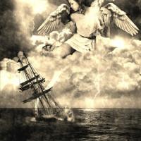Sailing angel - source artwork