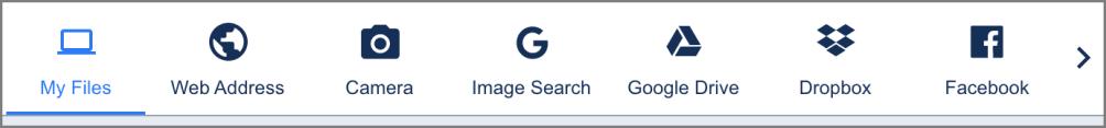 Upload widget sources