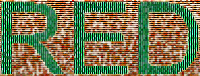 Stripes added to red and green image